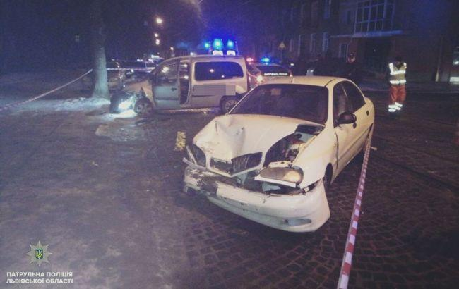 Во Львове за ночь произошли три ДТП из-за пьяных водителей