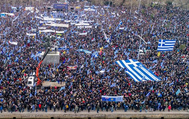 В Греции десятки тысяч людей протестовали из-за использования названия
