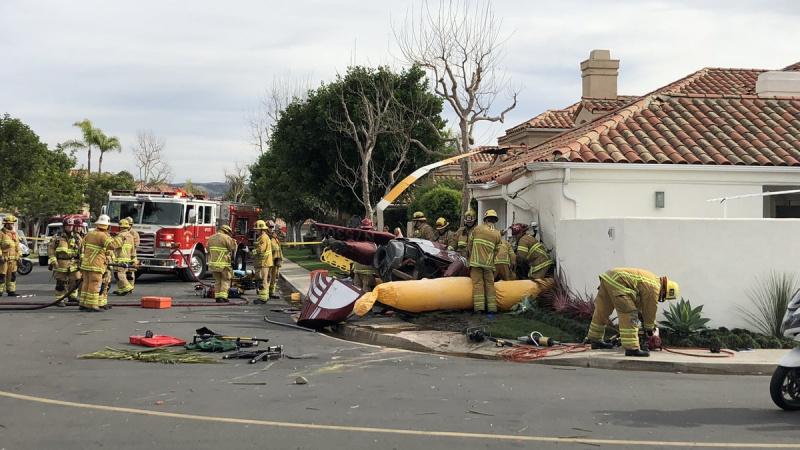 В Калифорнии вертолет врезался в дом, три человека погибли