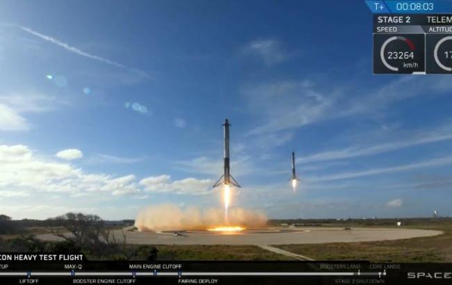 Центральный ускоритель ракеты Falcon Heavy разбился при посадке