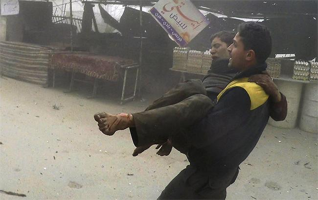 Правительственные войска Сирии сбросили бомбу с хлором на место атаки на российский штурмовик