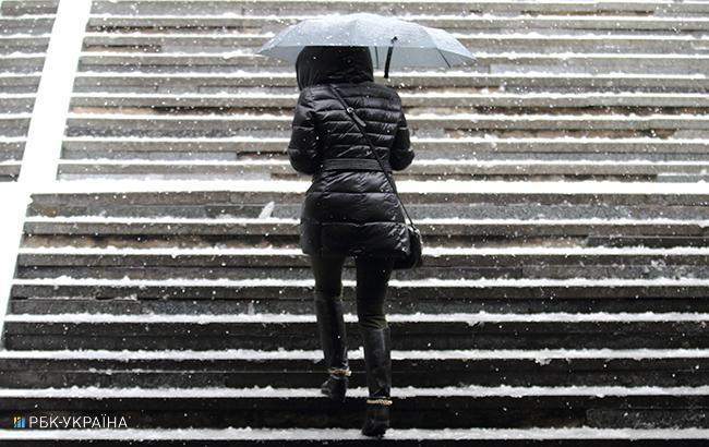 Погода на сегодня: на западе Украины снег, температура до +12