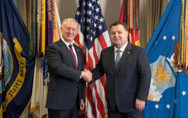 Министр обороны Украины встретился с главой Пентагона