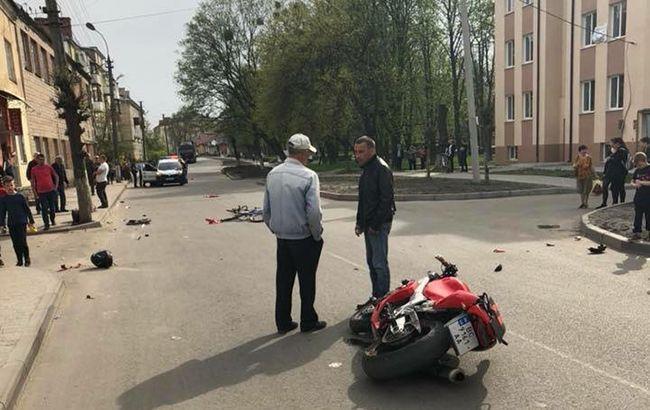 Во Львовской области столкнулись поезд и 10-летний мотоциклист