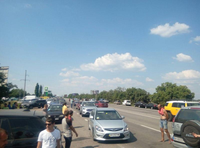 В Одесской области протестующие частично перекрыли трассу