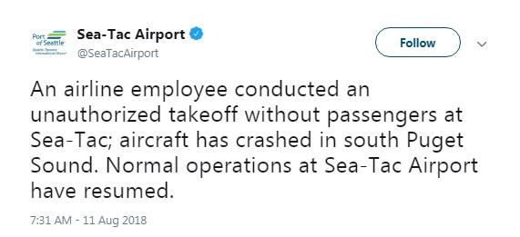 Из аэропорта Сиэтла угнали пассажирский самолет