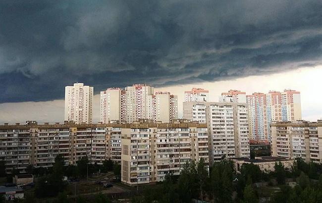 В Киеве сегодня ожидается гроза
