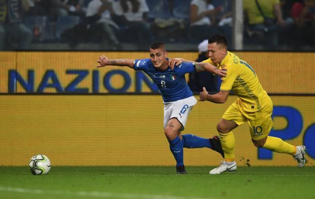 Сборная Украины сыграла вничью против команды Италии