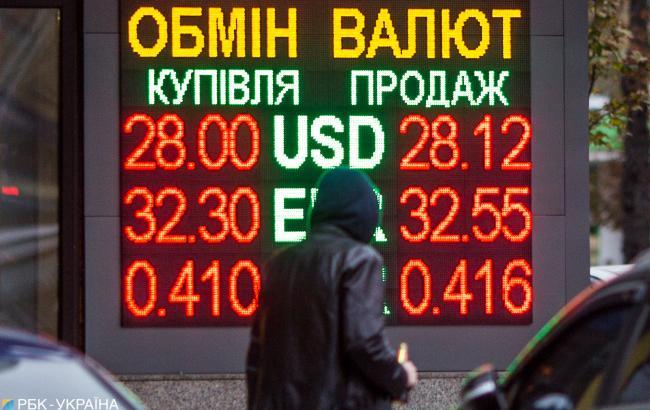 Курс доллара на межбанке упал до 28,00 грн/доллар