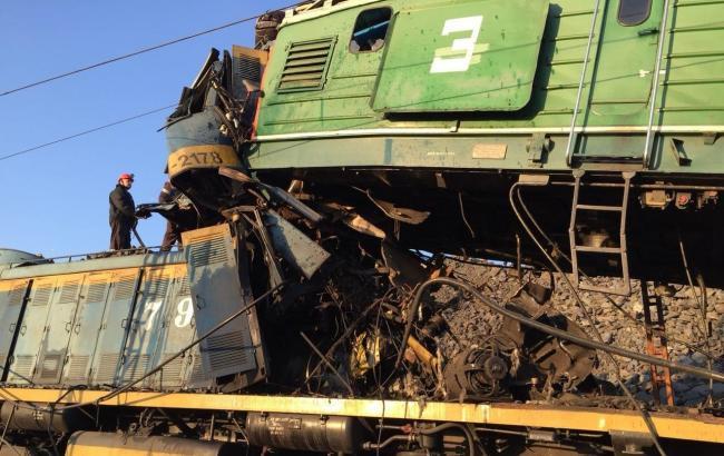 По факту аварии локомотивов в Кривом Роге полиция открыла дело
