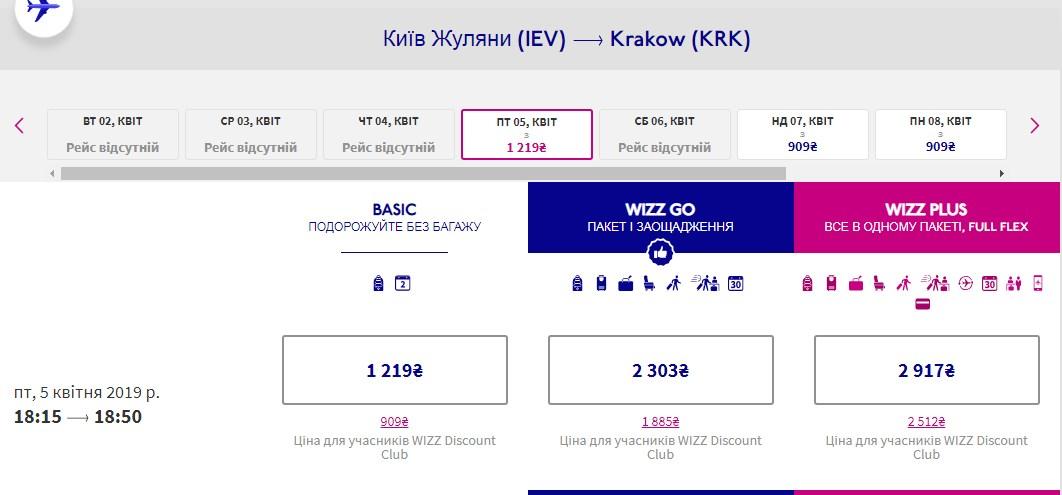 Wizz Air запустит прямые рейсы из Киева и Харькова в Краков