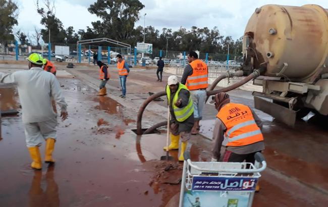 В Ливии затопило аэропорт Бенгази