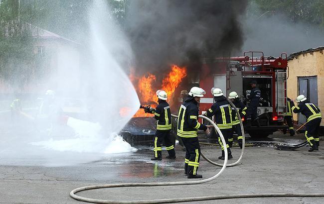 В Волынской обл. во время рейса сгорел автобус