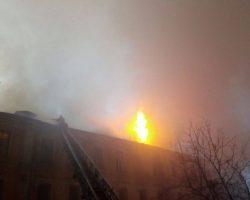 Пожар в правительственном квартале: существует угроза распространения огня