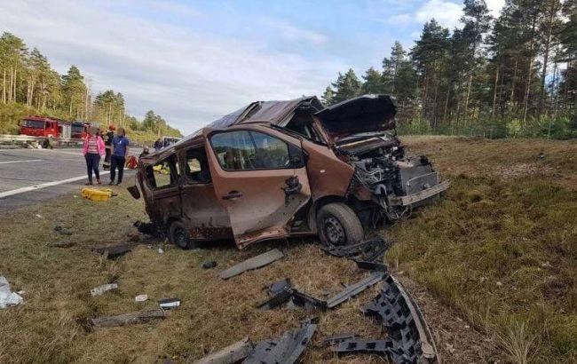 В Польше микроавтобус с американскими военными попал в ДТП, есть пострадавшие