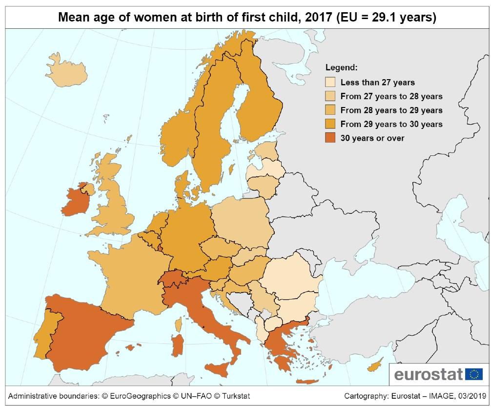 Евростат назвал страну ЕС с самой высокой рождаемостью
