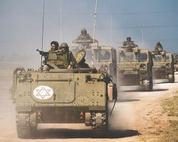 Израиль ответил на ракетную атаку из сектора Газа танковым обстрелом