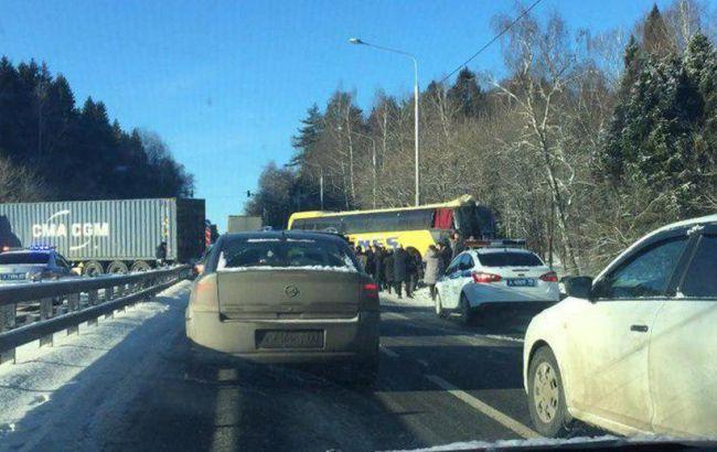 В Москве автобус с украинцами попал в ДТП, есть пострадавшие