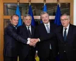 Порошенко договорился с руководством ЕС вместе противостоять вмешательству в выборы