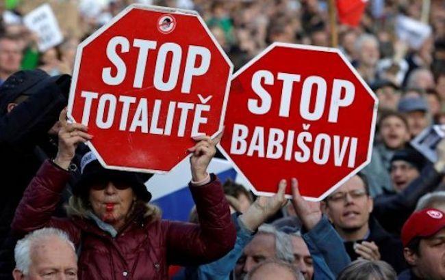В Чехии состоялась антиправительственная акция протеста
