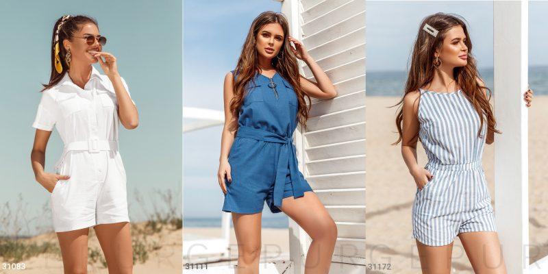 Летние женские комбинезоны с шортами от Gepur