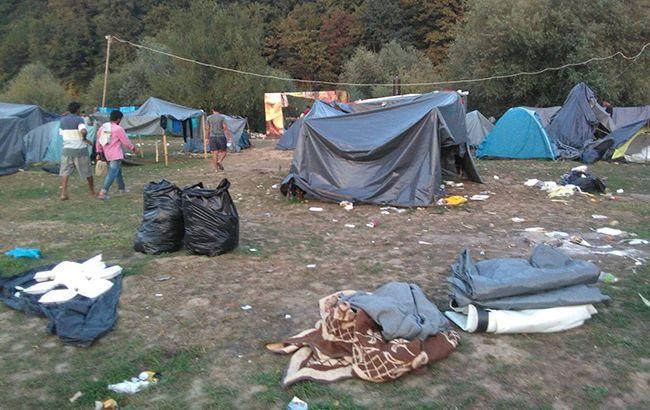 В Боснии произошел пожар в лагере мигрантов