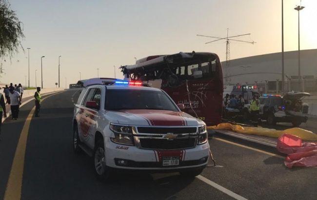 В Дубае в ДТП попал автобус с туристами, 17 погибших