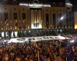 Десятый день протестов в Грузии завершился без столкновений