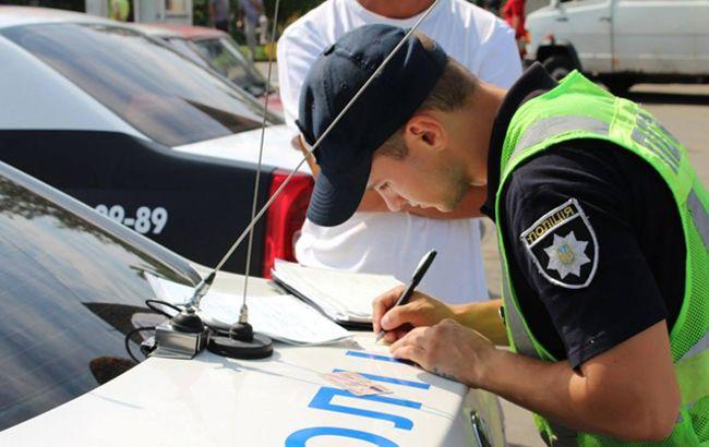 В Киеве начали штрафовать водителей