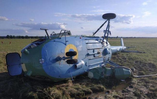 ГБР открыло производство из-за падения военного вертолета Ми-2