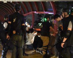 После ночных столкновений в Гонконге задержали почти 30 человек