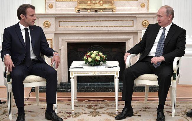 Макрон и Путин обсудили подготовку к саммиту в нормандском формате