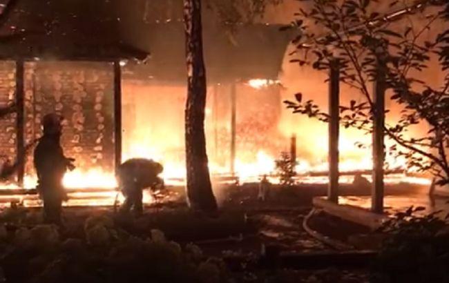 Полиция назвала версию пожара в доме Гонтаревой