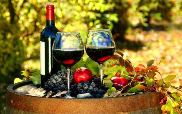 Сочетание закуски с красным вином