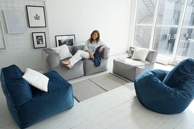 Удобная и стильная бескаркасная мебель для дома