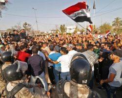 На протестах в Багдаде открыли стрельбу, есть жертвы