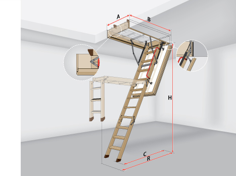 Чердачная лестница с утеплением или без? Как выбрать