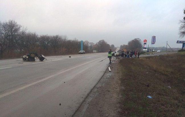 В Харьковской области в ДТП пострадали трое полицейских