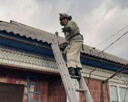 В Кировоградской области ветер сорвал крышу с больницы