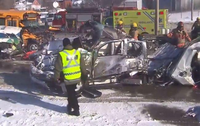 В Канаде столкнулись 200 авто: десятки пострадавших, есть погибшие