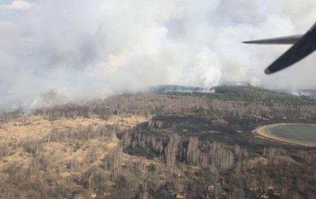 Ликвидация пожара в Чернобыльской зоне продолжается
