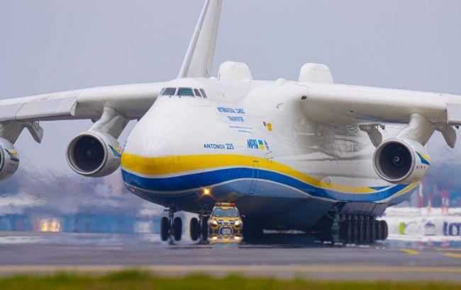 Прибытие украинского самолета Ан-225