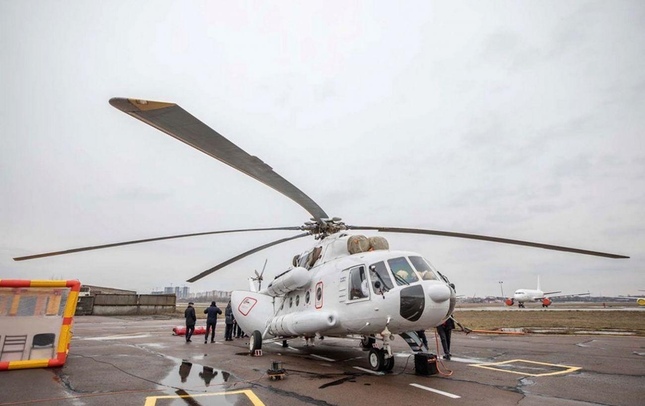 МВД направило вертолет для вывоза больных коронавирусом из Черновицкой области