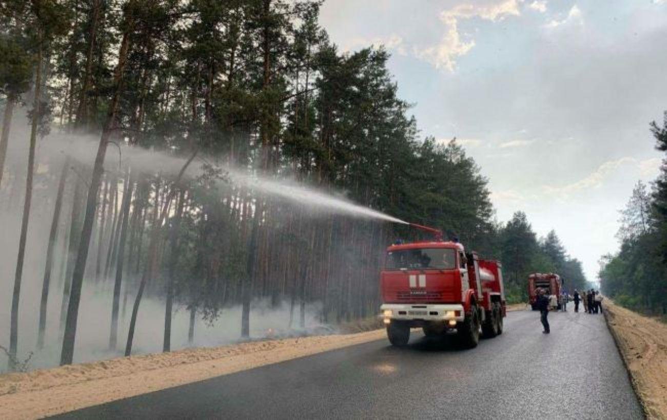 Пожар в Луганской области: открытого огня нет