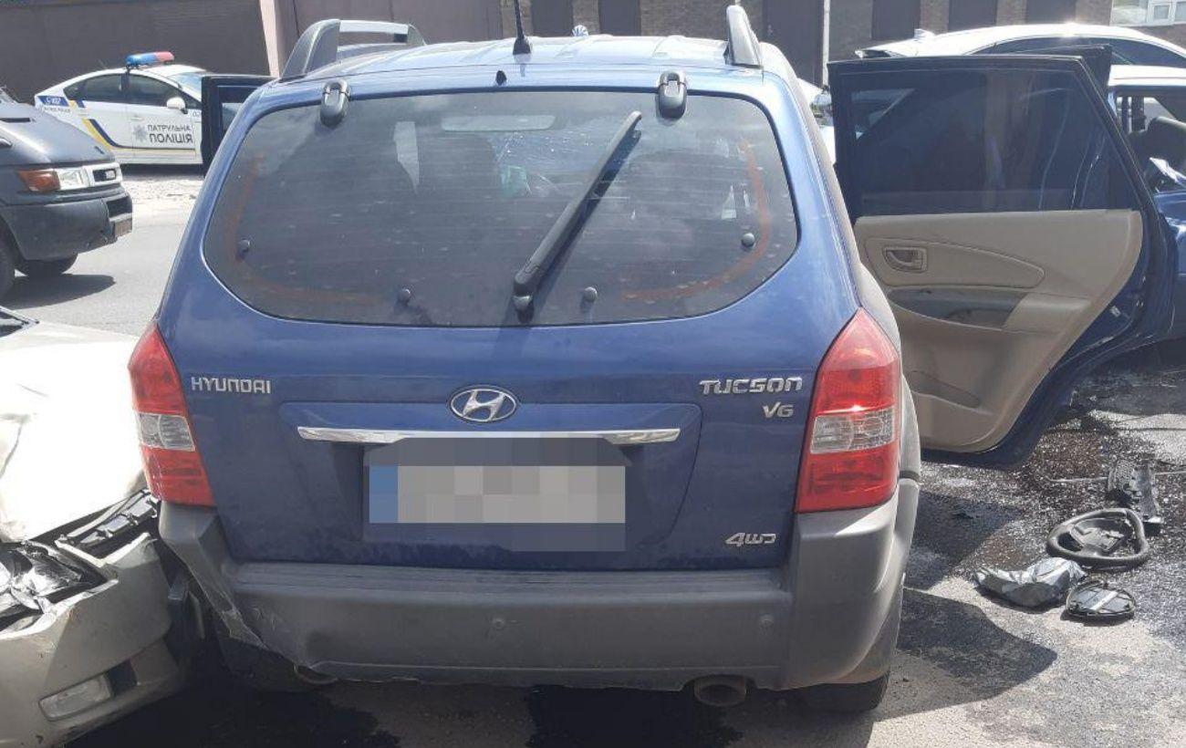 В Харькове произошло тройное ДТП, пострадала семья с детьми