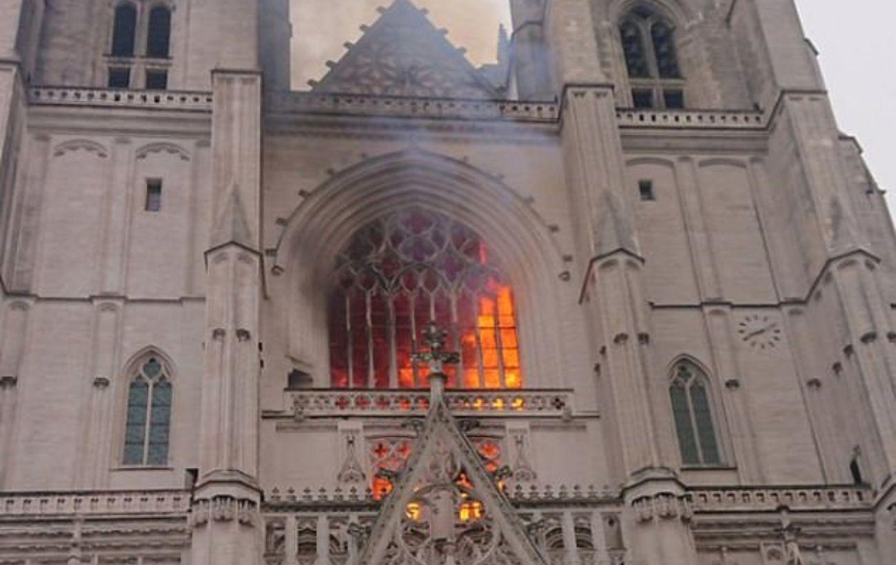 Пожар в Нантском соборе потушили