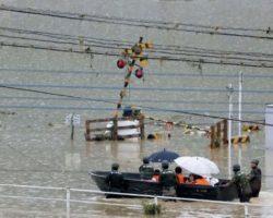 Жертвами наводнений в Японии стали уже 70 человек