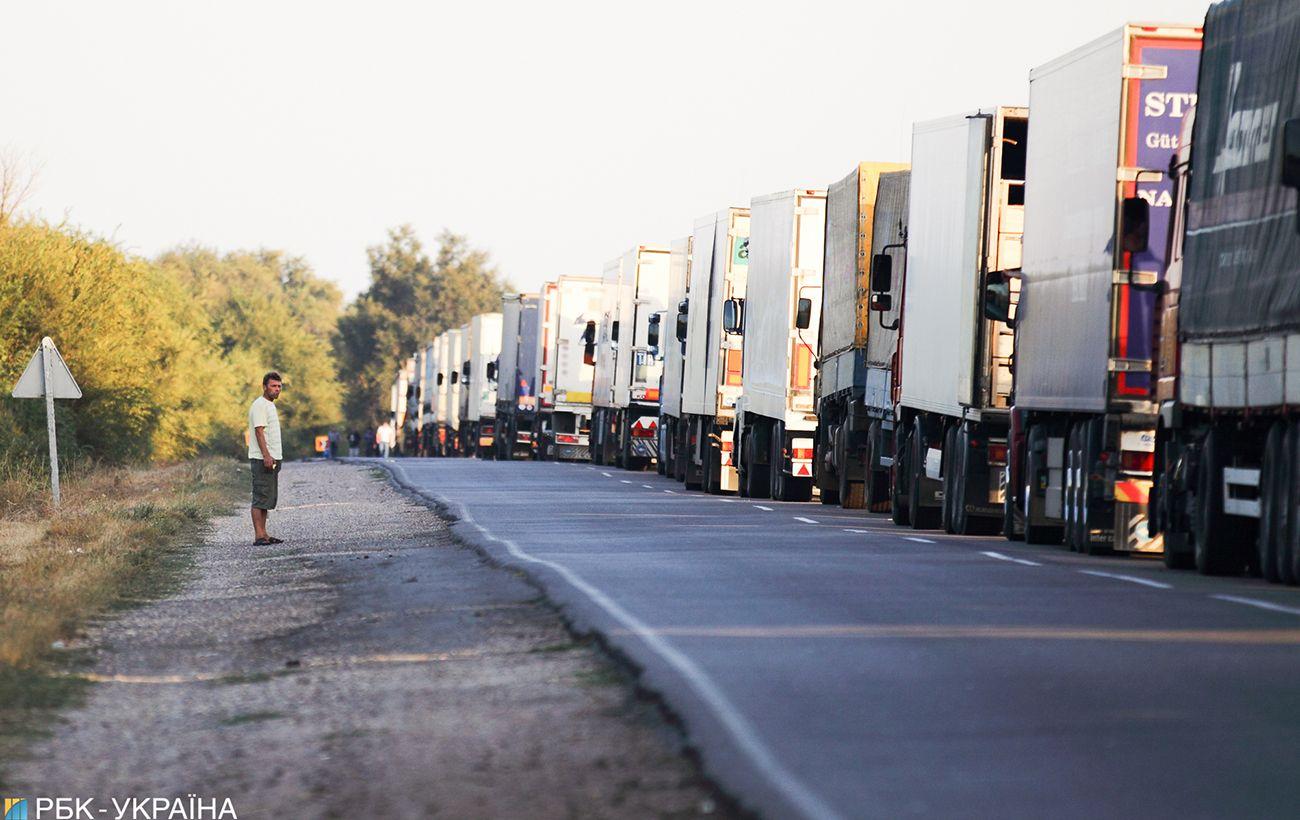 На границе Украины с Венгрией образовались пробки