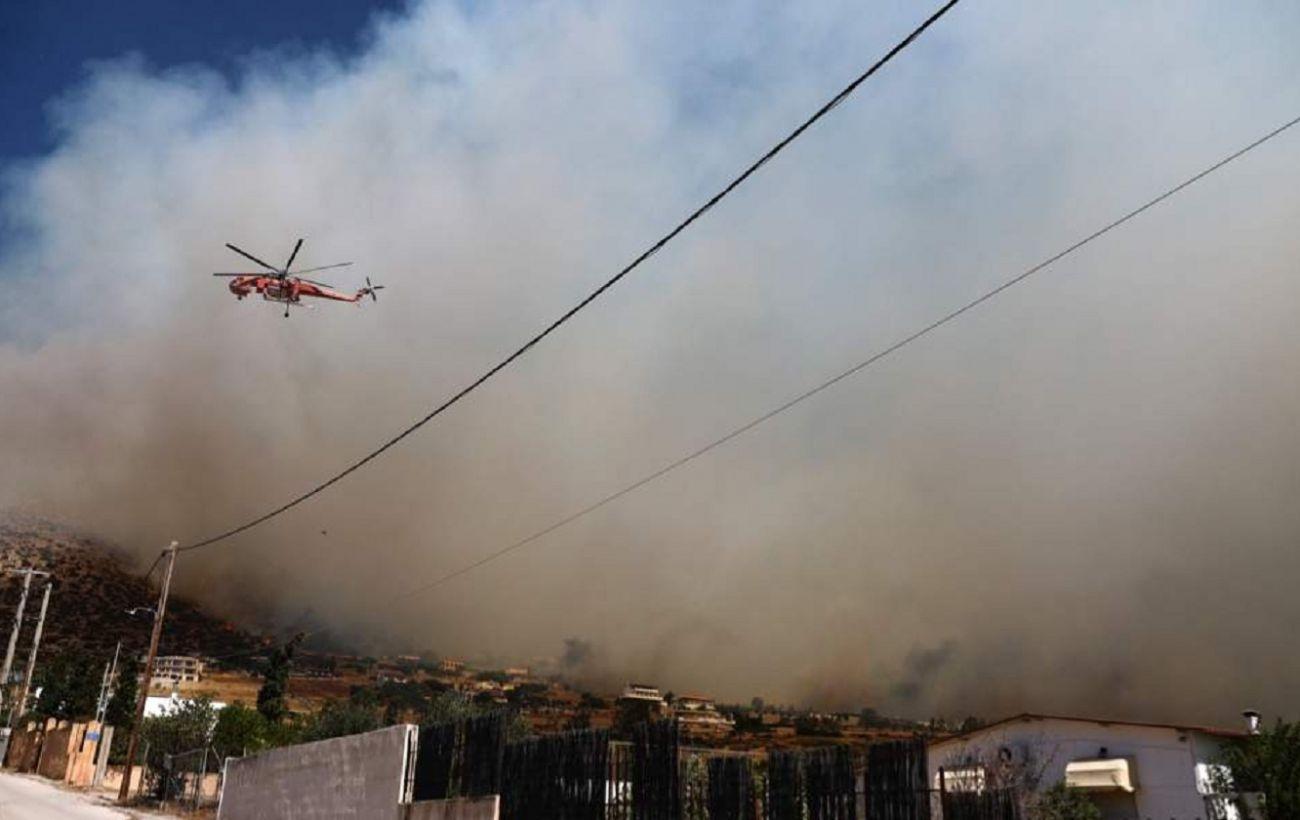Грецию охватили лесные пожары