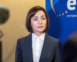 Санду пообещала добиваться вывода войск РФ из Приднестровья